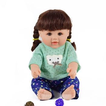 Lovely lifelike  girl vinyl dolls 18 inch reborn babies dolls girls play house toys boneca brinquedos menina