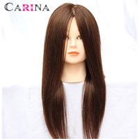 18 90 Real Hair Training Salon Mannequin Doll Head Hairdressing Practice Cosmetology Hair Styling Mannequins Head