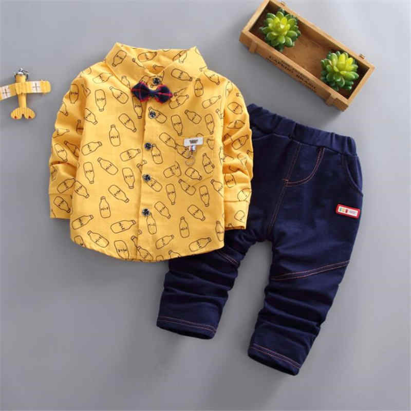 BibiCola boys clothing sets spring autumn children casual cotton shirt+pants 2pcs tracksuits for boys kids sports suits clothes