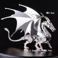 3D Detachable Dragon DIY Metal Birthday Gift For Children Boys Assembly Model Stainless Steel Models Toys 12.5*9.5*4.5cm
