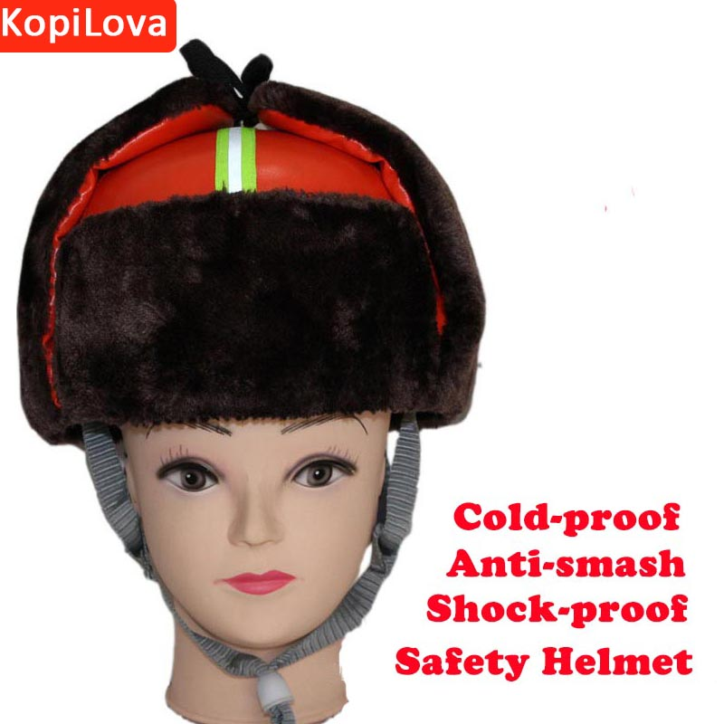Kopilova Winter Outdoor Orange Cold-proof Safety Helmet Work Protective Training Hard Hat Work Cap for Engineer Construchtion classic solar energy safety helmet hard ventilate hat cap cooling cool fan delightful cheap and new hot selling