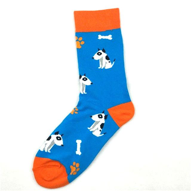 Bull Terrier Coffee Rugby Football Socks Short Funny Pizza Whale Cotton Male Socks Women Winter Men Unisex Happy Socks Female