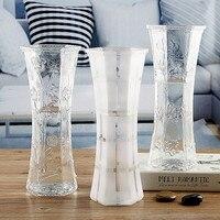 אגרטל פשוט להעלות את עשיר במבוק גדול מיובש שושן אגרטל זכוכית קישוטי סלון שקוף תרבות מים סידור פרחים