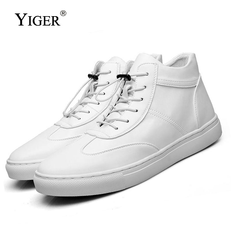 YIGER NEW Men Ankle Boots Genuine Leather man Casual shoes 2019 Autumn winter lace up desert
