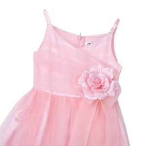 Image 4 - 2020 Girls Pleated Tulle Mesh Spaghetti Shoulder Straps Flower Girl Dress Princess Pageant Birthday Wedding Party Dress SZ 2 12