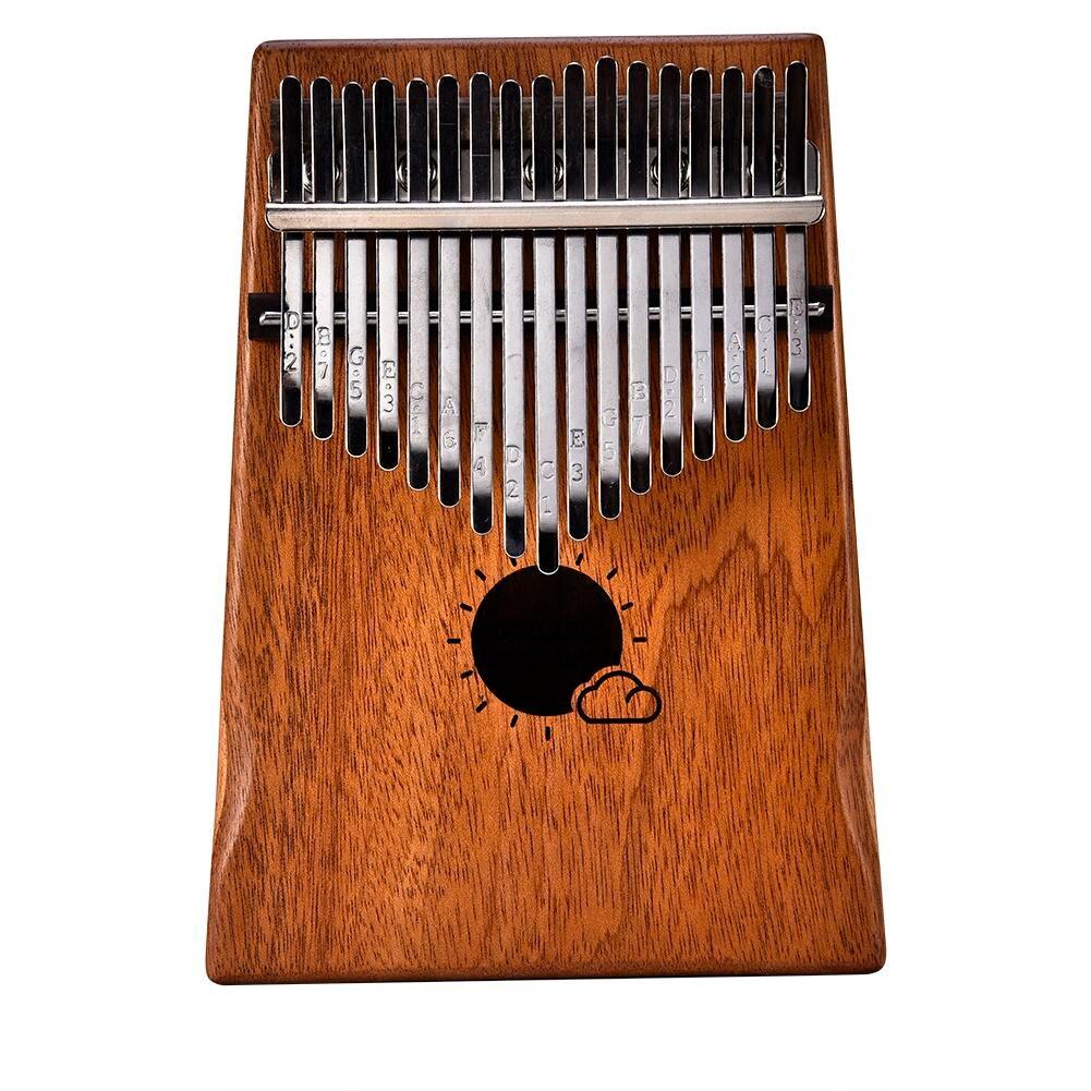 17 Key Kalimba Mbira Calimba African solid Mahogany Thumb Piano Finger with Bag Keyboard Marimba Wood Musical Instrument marimba plus