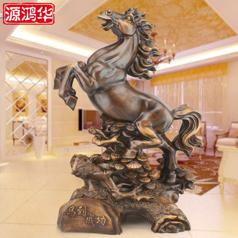 home decoration accessories resin crafts ornaments custom a horse decoration office