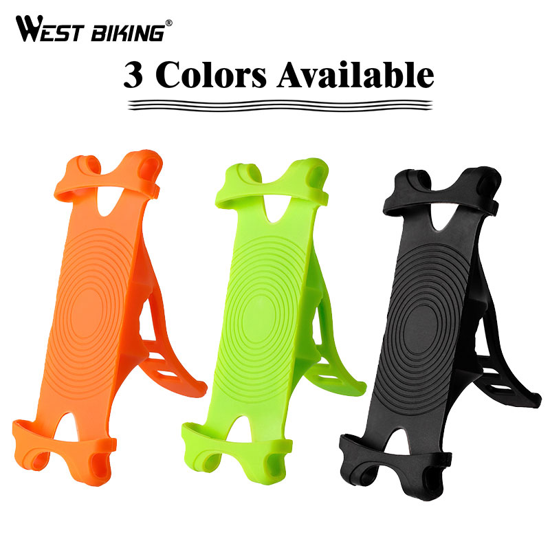 Bike-Holder Phone Bicycle Cell-Phone BIKING Mobile Silicone WEST