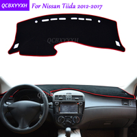 For Nissan Tiida 2012 2017 Dashboard Mat Protective Interior Photophobism Pad Shade Cushion Car Styling Auto Accessories