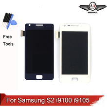 For Samsung Galaxy S2 i9100 i9105 LCD Display Touch Screen Digitizer Assembly black white blue