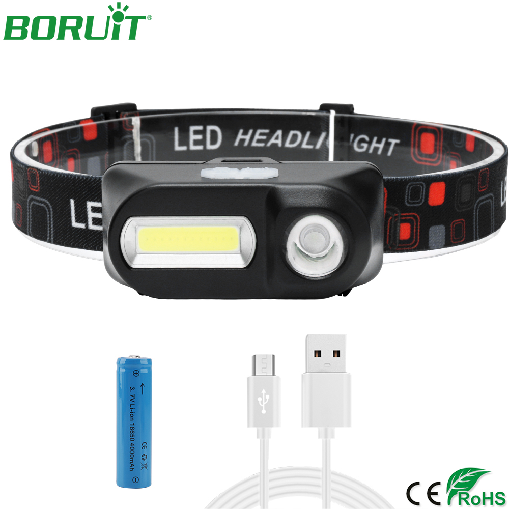 BORUiT COB LED Headlamp Flashlight USB Rechargeable Portable Work Light Waterproof Camping Hunting Lantern Head Torch Lamp 18650BORUiT COB LED Headlamp Flashlight USB Rechargeable Portable Work Light Waterproof Camping Hunting Lantern Head Torch Lamp 18650