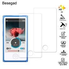 Besegad 2.5D 2 PCS Ultra Fino Anti-Risco de Alta Definição Filme Protetor de Tela De Vidro Temperado para Apple iPod Nano 7 8 Gadgets