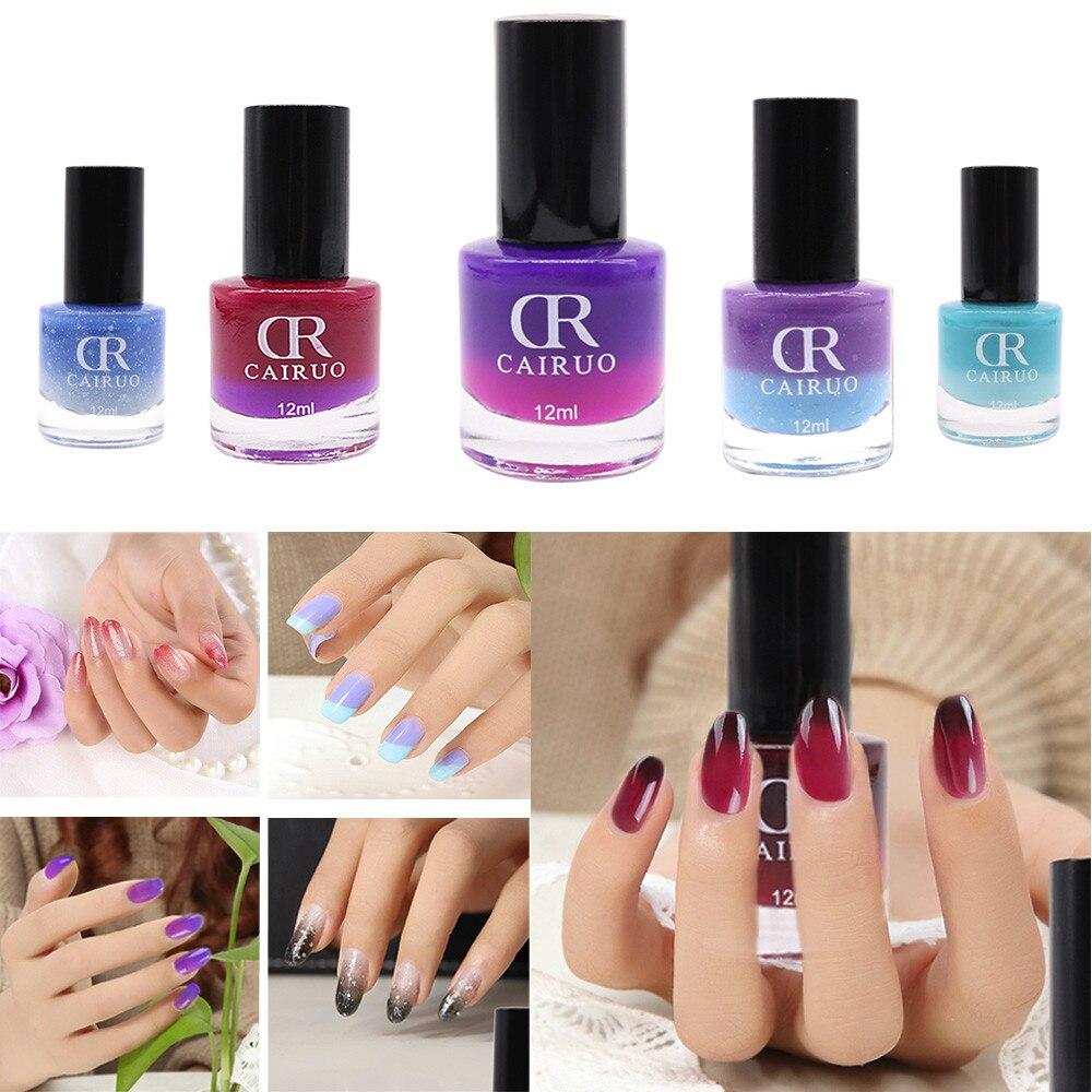 12ML Temperature Change Nail Polish Color Temperature Control Health ...