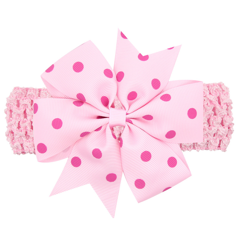 4.3'' Hair Ribbon Bows dot Hairband headwear Boutique Girls big Bow dots candy color headband Girls' Hair Accessories WW-HC075 women turtleneck front pocket sweater dress