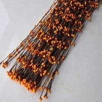 جديد الألوان اليقطين 50/100 ينبع pip التوت سلك diy اليدوية زهرة تاج إكليل أمر خاص لطيف