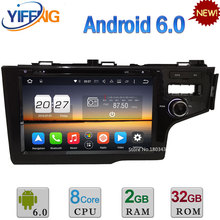 Android 6.0 32GB ROM Octa Core DAB WiFi 4G RDS USB 4GB RAM Car DVD Video Radio Player Stereo For Honda FIT 2014 GPS Navigation
