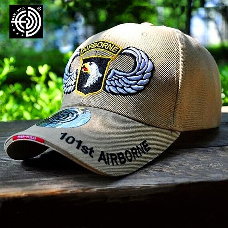 [HAN WILD] Marca 101o Airborne Army Snapback Caps Tactical Men Women - Accesorios para la ropa