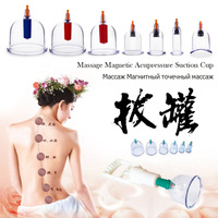 TCM Vacuum Tank Cupping Set Hijama Therapy Anti Cellulite Body Relax Can Massage Magnetic Acupressure Suction