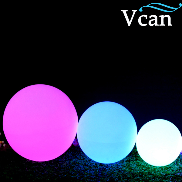 20cm Free Shipping RGB Remote Control Colors Change LED Light ball for club or garden VC-B200