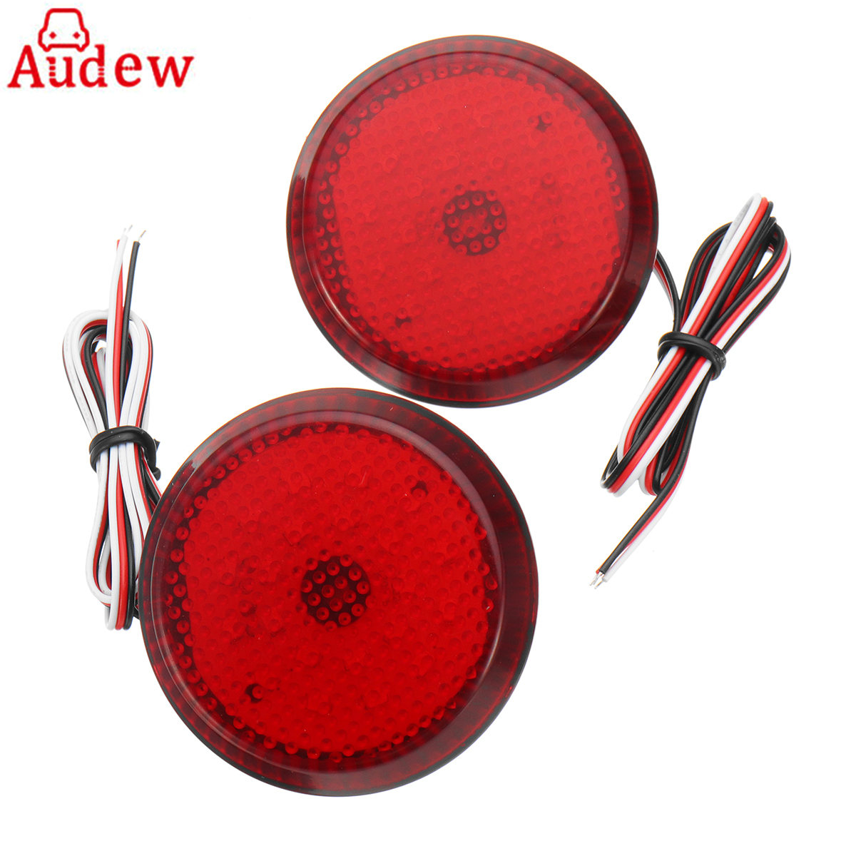 2Pcs Car Reflector Tail Brake Light Red LED Reverse Lamp Parking Warning Bumper Lamp For Nissan/Trail/Toyota/Corolla dongzhen fit for nissan bluebird sylphy almera led red rear bumper reflectors light night running brake warning lights lamp