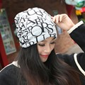 Adult winter Cotton Beanies female Letter keep warm Outdoor hat 3 use multifunction scarf caps for young lovers friends