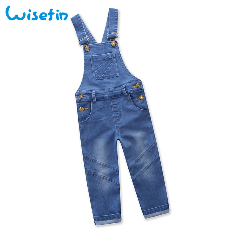 d52d263d44f Wisefin Children Denim Overalls Pants Kids Fashion Jumpsuit Summer Girl Kid  Rompers Denim Jeans Infant Clothes Baby Boy Overalls-in Overalls from  Mother ...