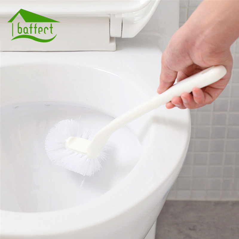 Household Toilet Cleaning Brush Portable Plastic Long Handle Bathroom Toilet Bowl Scrub Double Side Cleaning Brush