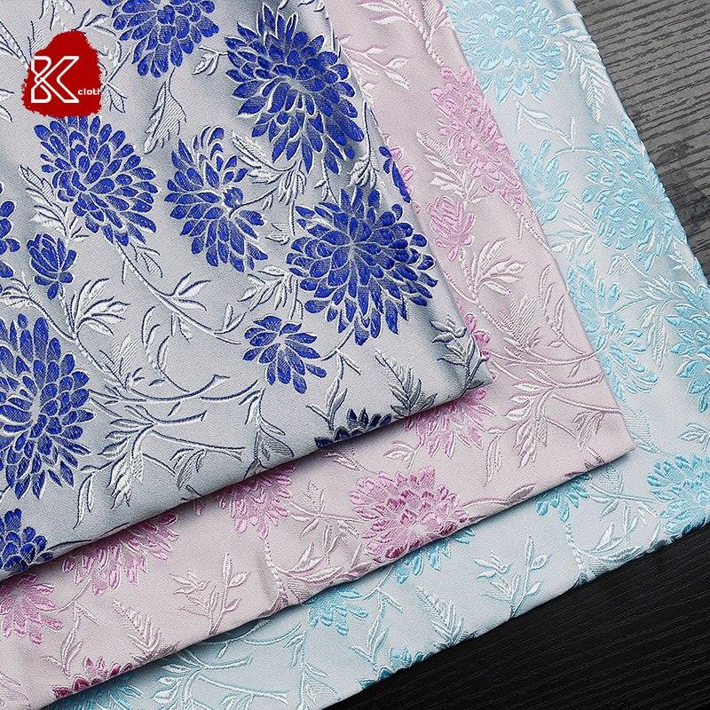 Arts,crafts & Sewing Designer 93% Natural Mulberry Silk 7% Spandex Stretch Satin Clothing Fabric Pink Hibiscus Dress Cheongsam 1m U271