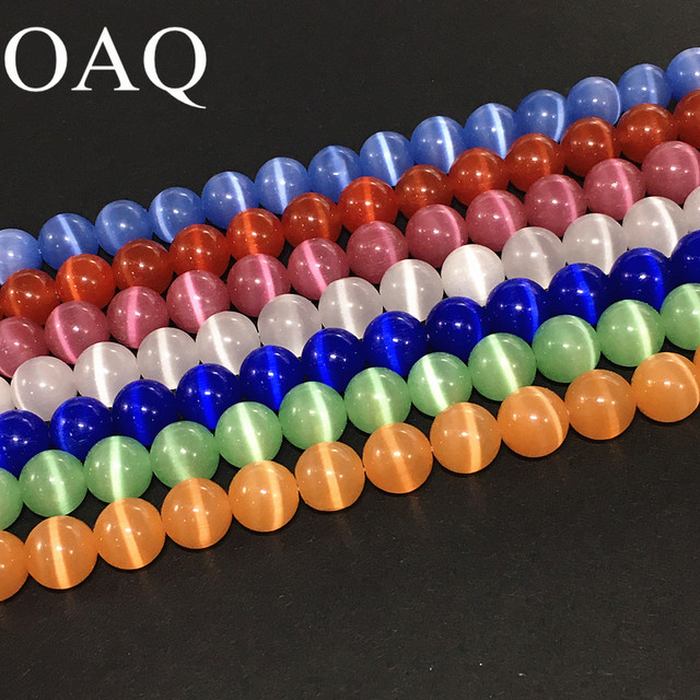 6-12mm Wholesale Diy Glass Beads For Jewelry And Beads Glass Cat Eye Stones Beads For Jewelry Making To Make Bracelets