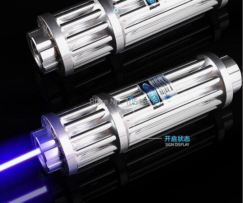 Лидер продаж! Мощность ful 450nm 200000 м 200 Вт сильный Мощность военно-Синий лазерная указка светодио дный спичка свеча горит сигареты нечестивых ...