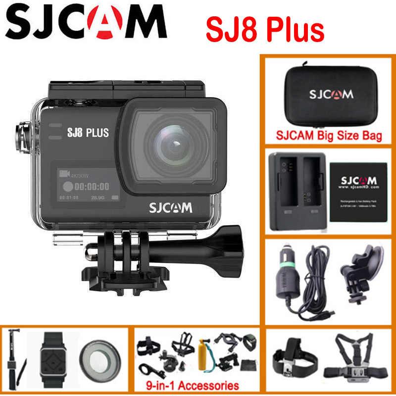 Оригинальный SJCAM SJ8 Plus True 4K 30FPS Ultra HD Экстремальный Wi-Fi дистанционный шлем Спортивная экшн DV камера видеокамера Полный комплект коробка