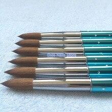 1 шт Nail Art Kolinsky СОБОЛЬ акриловая ручка с кисточкой из полимерного материала УФ Гель-лак DIY Живопись Рисунок Резьба Карандаш для маникюра, инструменты нет,#6#8#10#12#14#16