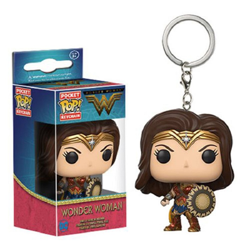 Wonder Woman Keychain Anime Key Chain Moive Key Ring Holder Pendant Chaveiro Jewelry Souvenir Action Figure Toy  new arrival 6pcs 1set 3cm hand sized anime pokeball key chain ring abs toy super master children toy juguetes original box
