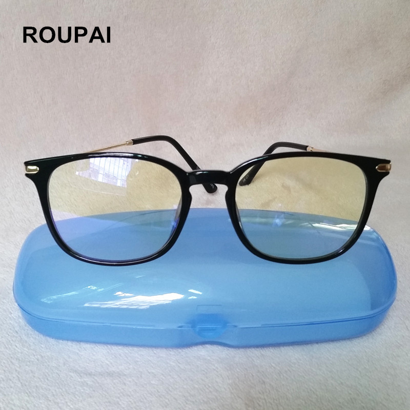ROUPAI Computer Glasses Anti blue light Reading eyeglasses Myopia Frame Protection Gaming goggles for Men Women 5008