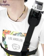 Snowhu para acessórios gopro alça de ombro montar adaptador de chicote de fios no peito para go pro herói 9 8 7 6 5 4 3 para xiaomi yi sj4000 gp199