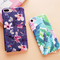Moda colorida flor plantas folhas caso para iphone 7 caso bonito Gato dos desenhos animados Folha de Tampa Traseira Phone Cases Para iphone7 6 6 S além de