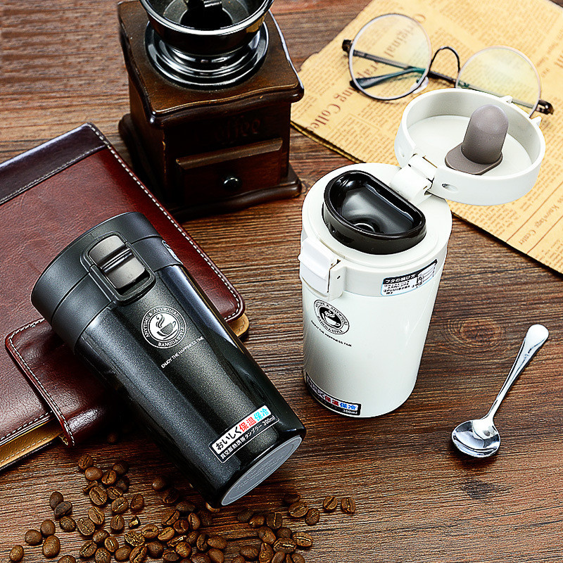 Portable Coffee Thermos Thermal Cup Vacuum Flask Heat ...