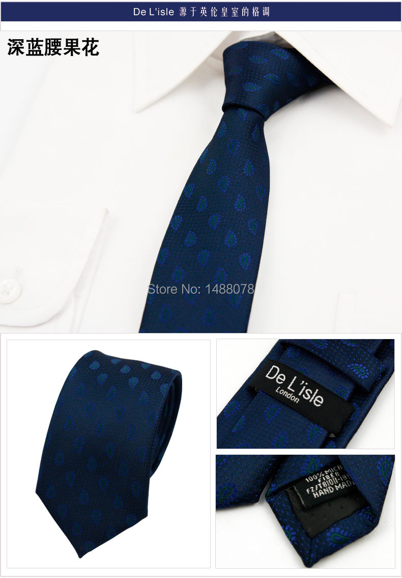 Water Drop Navy Ties 2M6-10++