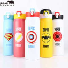 BEARCAVALIER 350/500 ML Niedlichen Cartoon garrafa termica thermo Thermos Edelstahl-vakuumflasche für Kinder Mädchen Männer Wasser flasche