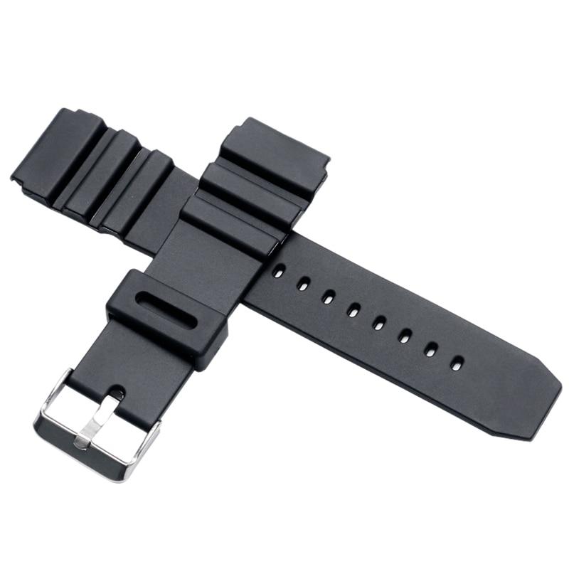 Black Rubber Silicone Stainless Steel Pin Buckle Men Women Wrist Watch Strap Band 18mm 20mm 22mm Repalcement silicone rubber watch band 15mm 16mm 17mm 18mm 19mm 20mm 21mm 22mm for mido stainless steel pin buckle strap wrist belt bracelet