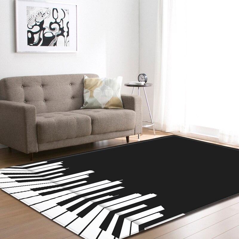 RULDGEE 1PCS Polyester Piano Pattern Carpet for Living Room Kitchen Mat Bedroom Carpet Floor Door Mat