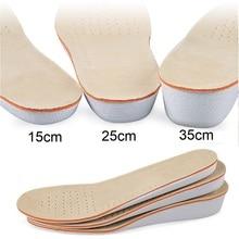 Amazing Sport Height Increase Insole Men Women School Insoles Shock Absorbing EVA Silicone Shoe Heel Spur P0251