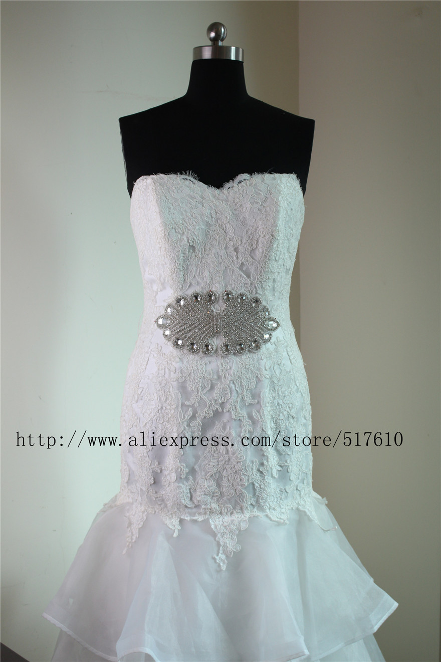 Crystal Rhinestone appliques and trims Bridal beaded lace trims for ...
