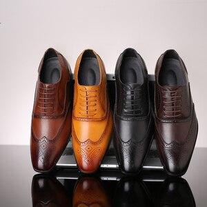 Image 3 - 2019 rozmiar 38 48 męskie buty wizytowe biuro społeczne projektant ślubne luksusowe eleganckie męskie buty sukienka # SY R7878