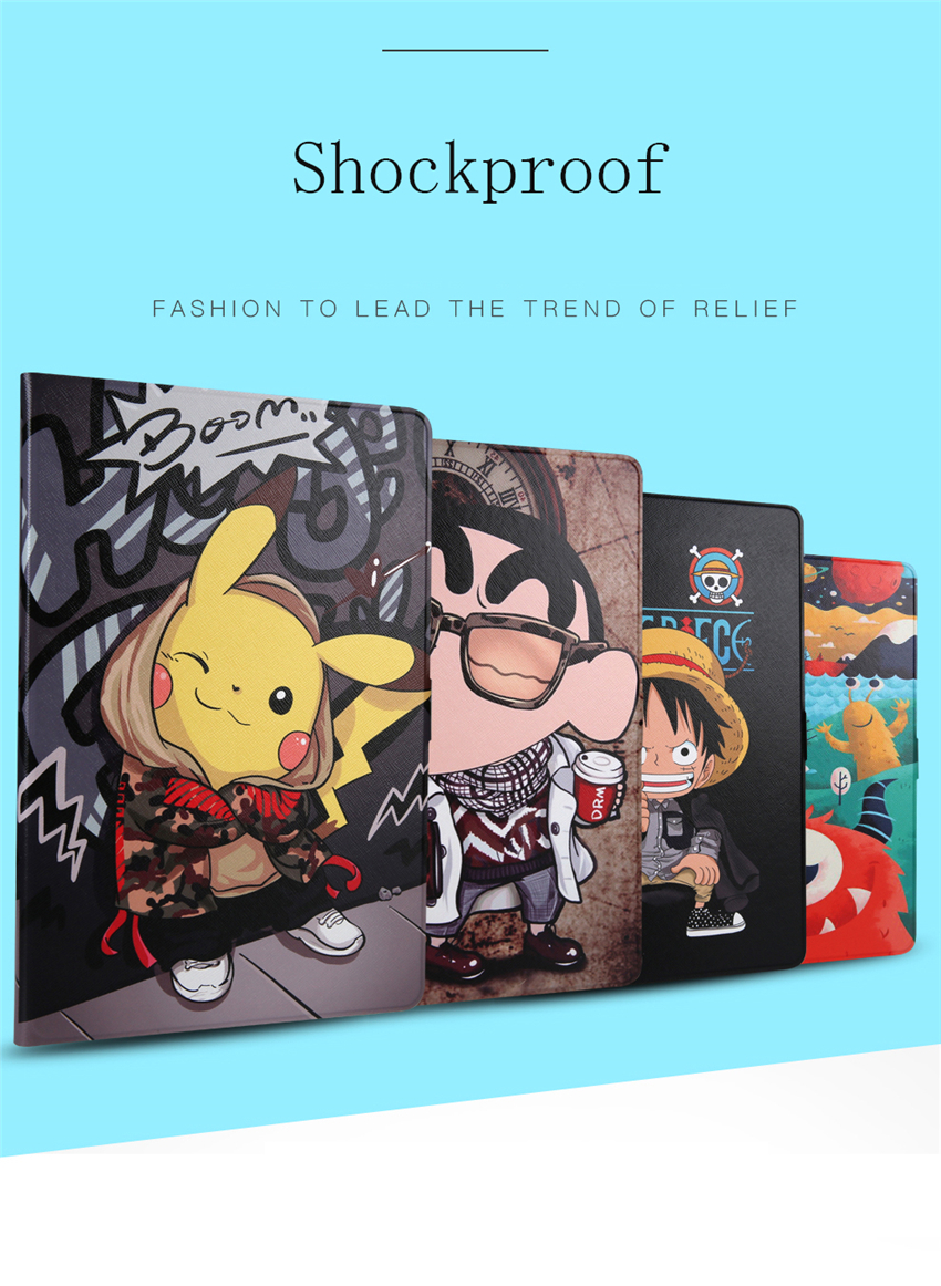Für Samsung Galaxy Tab 3 8,0 <font><b>SM</b></font>-<font><b>T310</b></font> T311 T315 Smart Fall Cartoon Coforful Print Silicon TPU + PU Leder Tablet shell Funda + Stift image