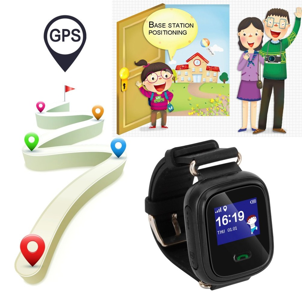 Anti-lost Q60 Child Smartwatch Safe-keeper Sos Call Monitor Real Time Tracker For Children Base Station Location App Control Children's Watches