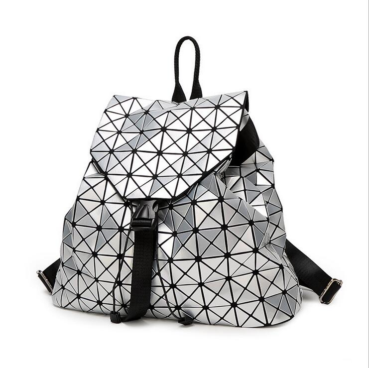 BaoBao Woman Bag Shoulder bags  Diamond backpack Laser Geometry Package Luminous Sequins Mirror Plain Folding Tote