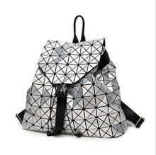 BaoBao Женщины Сумку Плеча сумки Алмаз рюкзак Лазерная Геометрия Пакет Световой Блестки Зеркало Обычный Складной Тотализатор