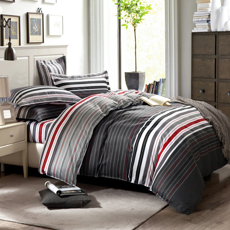 Red And White Striped Sheet Set. Red Black Gray Striped Bedding Bedding  Designs .