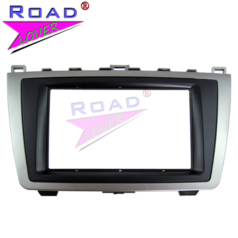 TOPNAVI Car Frame Panel for <font><b>Mazda</b></font> <font><b>6</b></font>/ Atenza 2009-2013 2DIN Adapter CD Trim Stereo Interface <font><b>Dash</b></font> <font><b>Radio</b></font> Fascia In <font><b>Dash</b></font> Mount <font><b>Kit</b></font> image